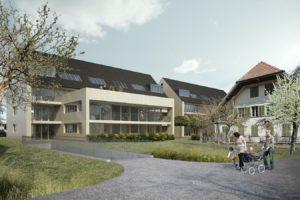 Baulandparzelle mit Machbarkeitsstudie mit altem Bauernhaus